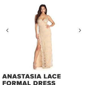 Anastasia gold lace dress